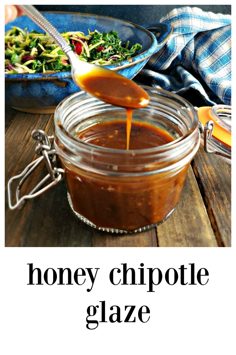 Honey Chipotle Glaze is simply transformative! Think of it like a rich, smoky barbecue type sauce with the smooth umami of Asia & the spice of Mexico! This literally takes 3 minutes to make. It's a Miracle! #HoneyChipotleGlaze #ChipotleGlaze #ChipotleBarbecueSauce #BBQSauce