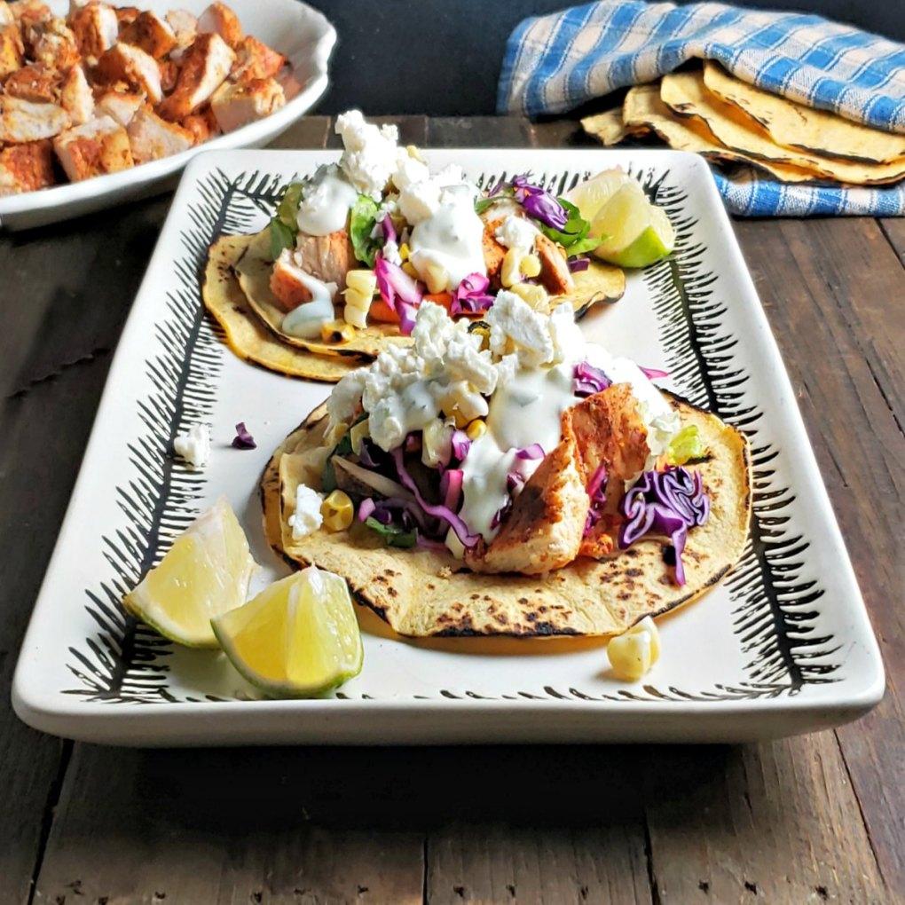 Baja Chicken Tacos & Baja Sauce
