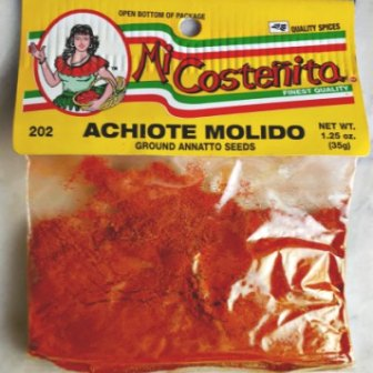 achiote molida - ground annatto