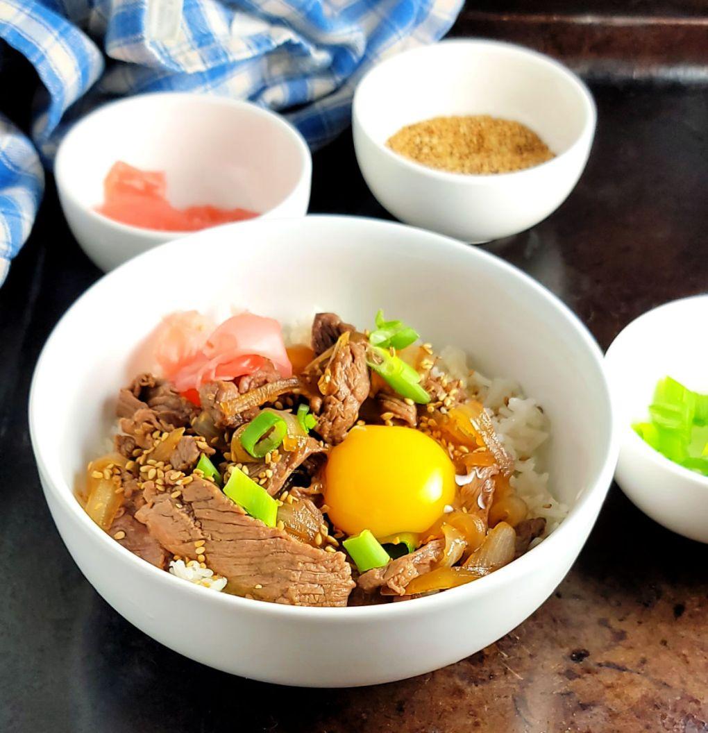 Gyudon Japanese Beef & Rice Bowls