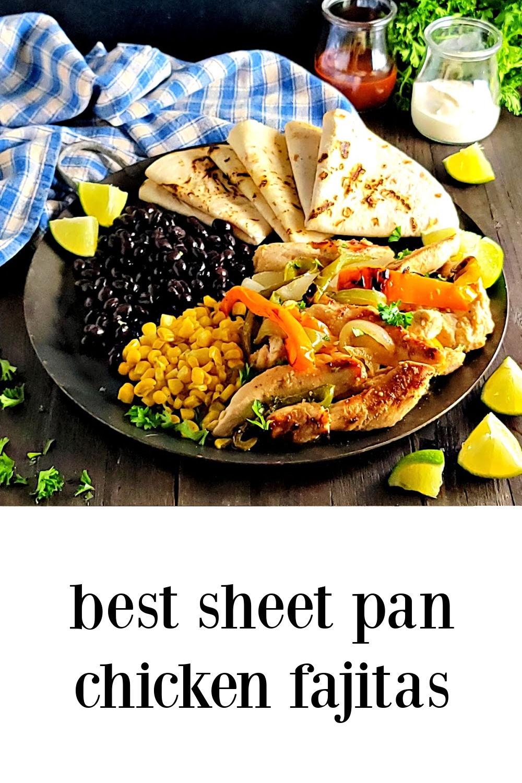 pin Best Sheet Pan Chicken Fajitas
