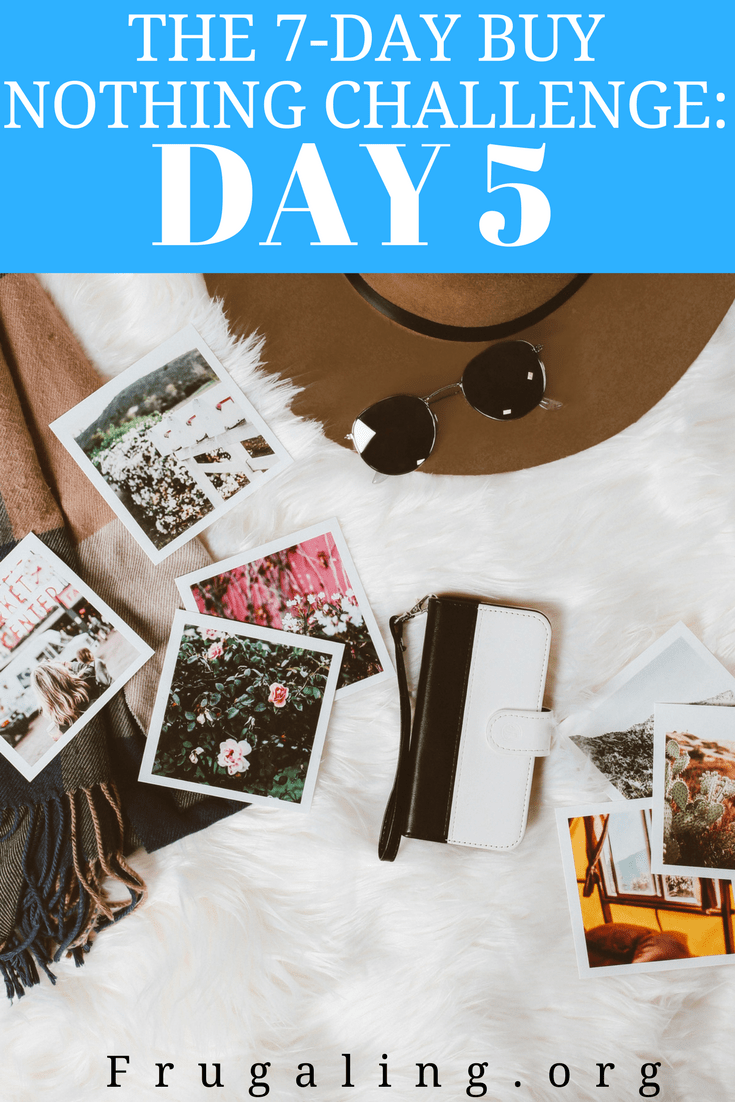 "Motivated by an eagerness to curtail wasteful spending and take control of my budget, I started ""The 7-Day Buy Nothing Challenge."""