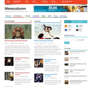 Dezzain Mesocolumn Free WordPress Theme