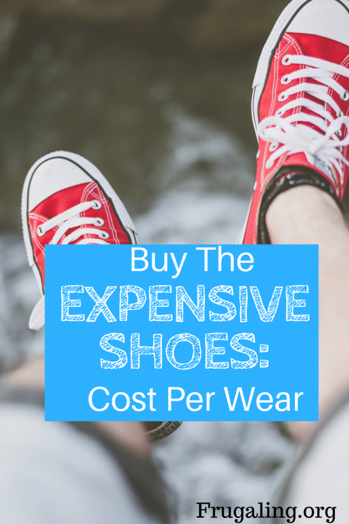 By buying shoes that are initially more expensive, I'm actually saving my wallet and helping the environment.