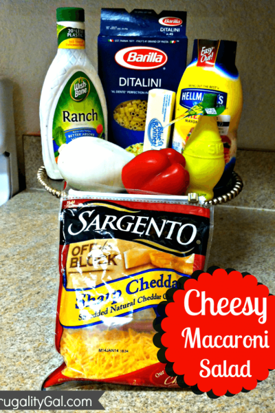 20 Minute Meal: Super Easy and Cheesy Macaroni Salad