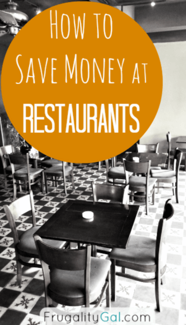 Learn how to save money at restaurants and you'll be able to dine out more often without sacrificing your budget.