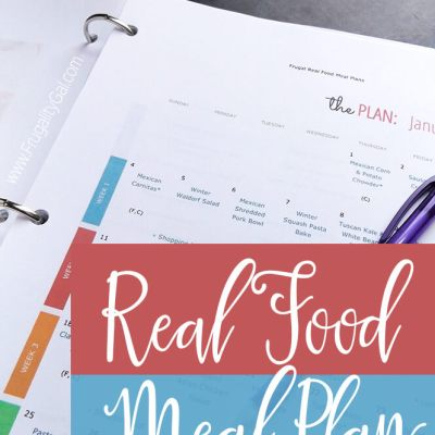 Frugal Real Food Meal Plan