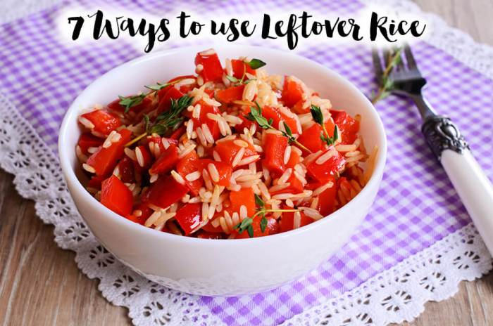 {meal planning} Do you always have a mountain of rice left over? If so, here are 7 frugal ideas for working your leftover rice naturally into your future meal plans!