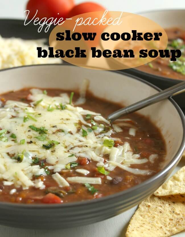 Veggie Packed Black Bean Soup by Amuse Your Bouche