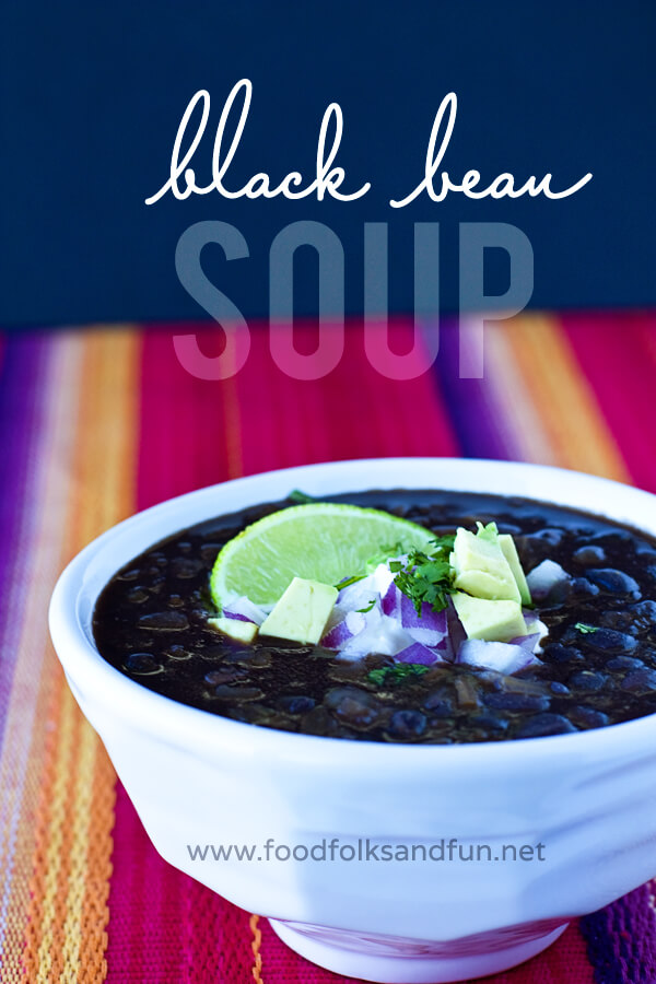 Restaurant Style Black Bean Soup by Food Folks Fun
