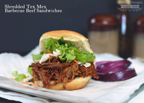 06 - Shredded Tex-Mex Barbecue Beef Sandwiches by Scattered Thoughts of a Crafty Mom