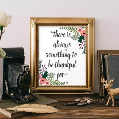 Free Thanksgiving Quote Art Print