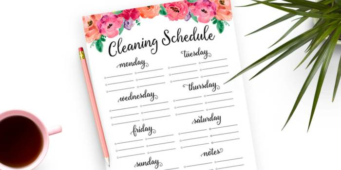 Free Cleaning Schedule Printable - Use this free printable cleaning checklist to create a realistic cleaning routine that works for you!