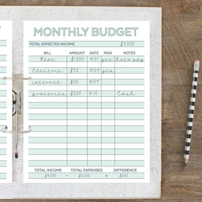 Free Printable Monthly Budget Planner Worksheet – Monthly Budget Planner Worksheet