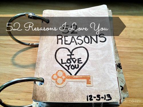 DIY: 52 Reasons I Love You #DIY -