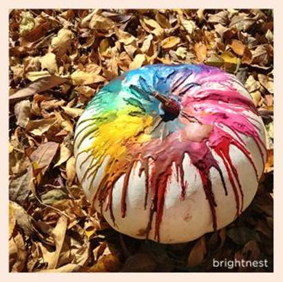 Decorating Pumpkins With Kids Playdough Faces And Crayon Scribbles
