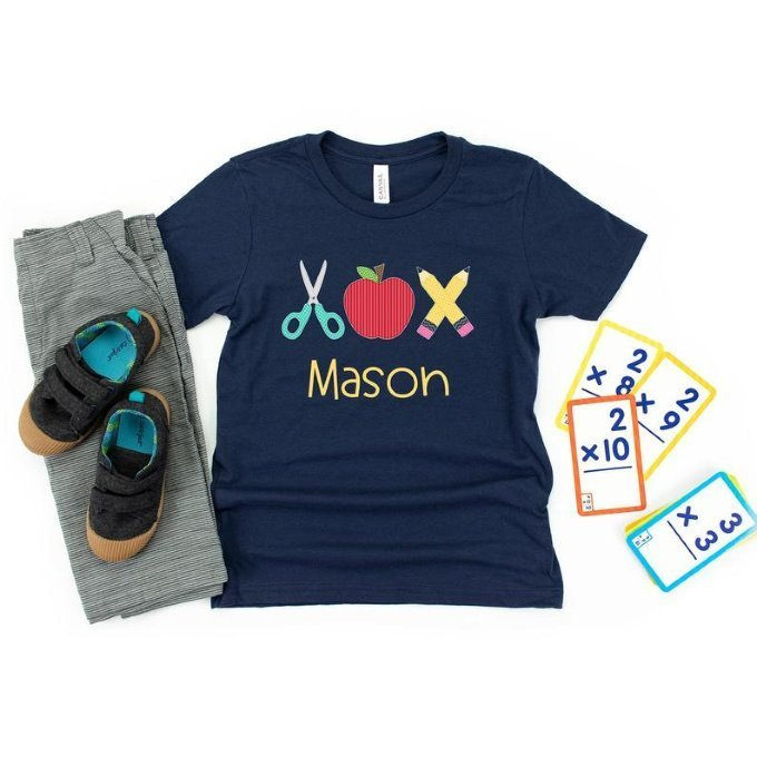 Boys Personalized Back to School Shirt