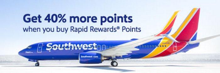 Southwest Airlines Buy Rapid Reward Points Promo
