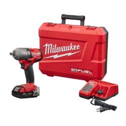 Milwaukee 18V Brushless Mid Torque Cordless 1/2″ Impact Wrench Kit