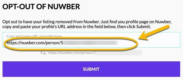 Remove info from Nuwber FrugalReality-5