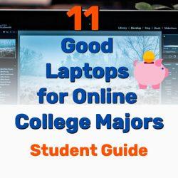 11 Good Laptops for Online College Majors [Student Guide]