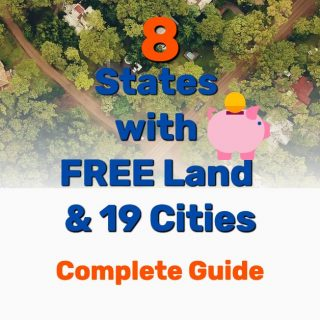 8 States with Free Land (19 Cities) +  Government Grants
