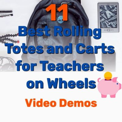 Best rolling totes carts for teachers - Frugal Reality