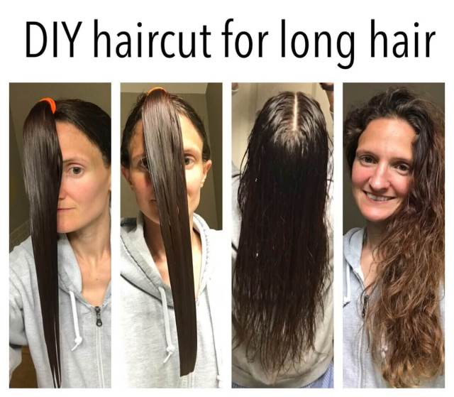 best way to cut long hair at home
