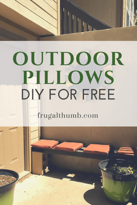 DIY outdoor pillows for free