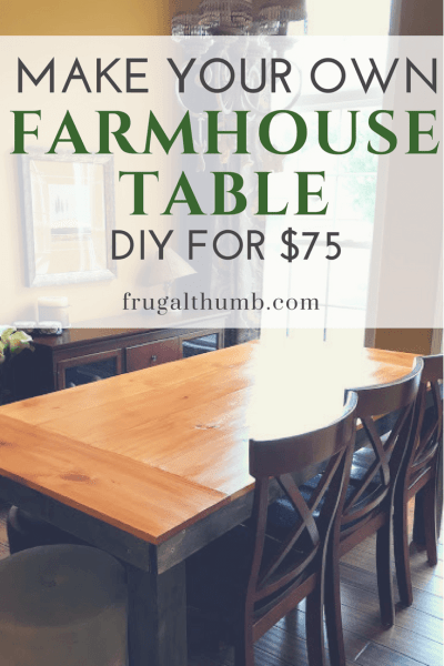 Make your own farmhouse table for $75