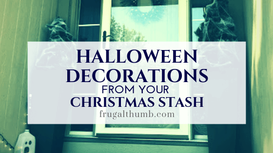 Easy Halloween Decorations from Your Christmas Stash