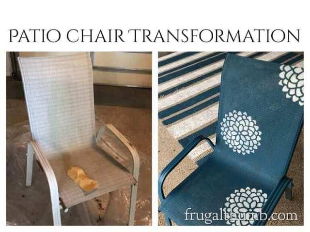 patio chair transformation