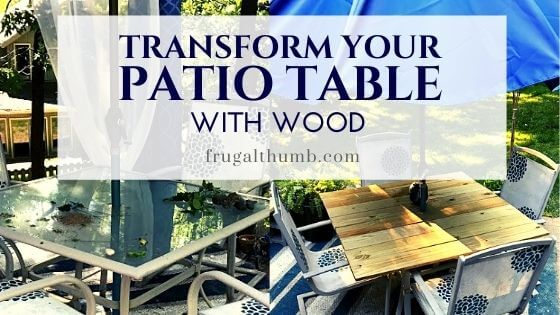 make a wood patio table top for your