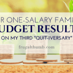 Our Family Budget Results on My Third Quitting Anniversary