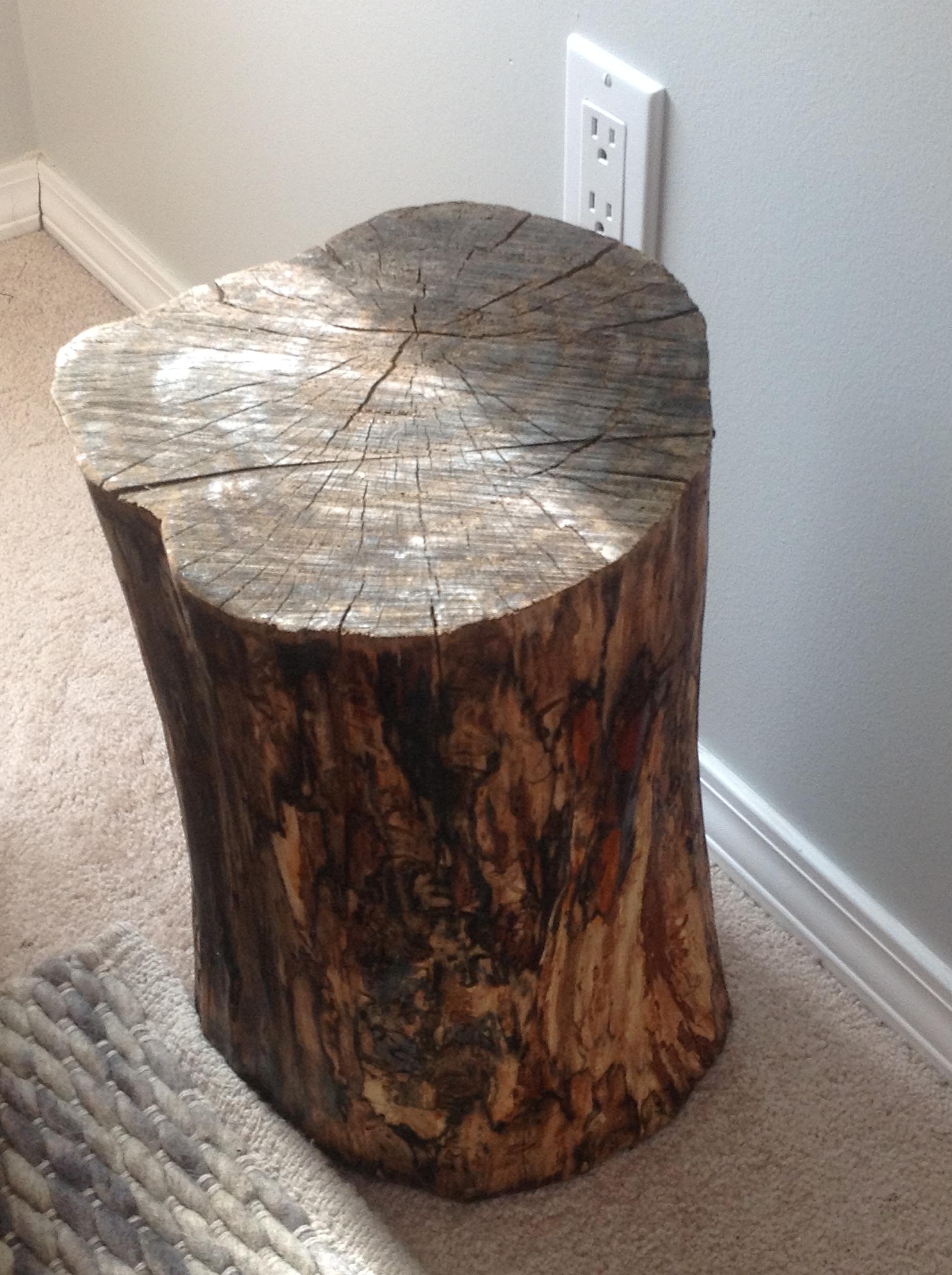 The Nursery Diy Tree Stump Side Table Frugal To Freedom