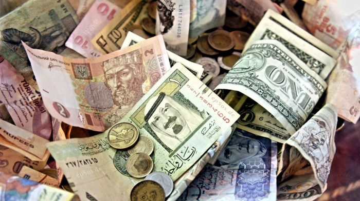 Don't be the guy with a giant bag of foreign currencies. Just don't. - Exchange Currency