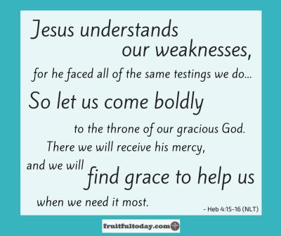 Jesus was abandoned. He understands. Hebrews 4, verses 15 and 16 graphic