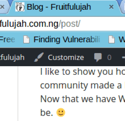 Fruitfulujah Favicon on Top Left Browser