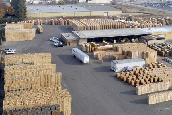 The Fruit Growers Supply pallet-manufacturing plant.