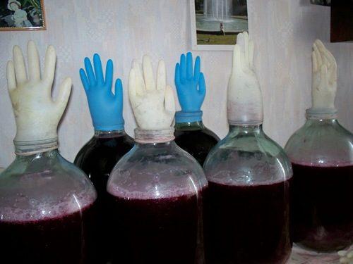 Использование самодельного гидрозатвора при брожении
