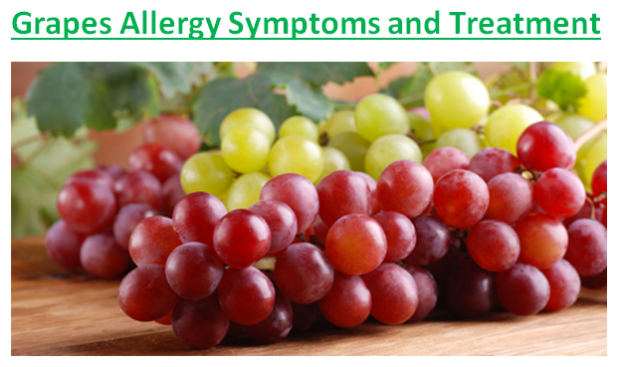 Grapes Allergy Symptoms and Treatment