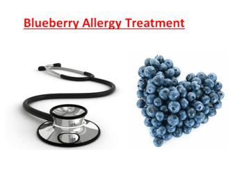 Blueberry Allergy Treatment