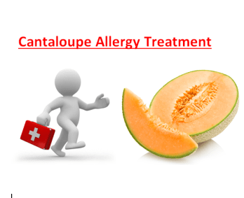 Cantaloupe Allergy Treatment