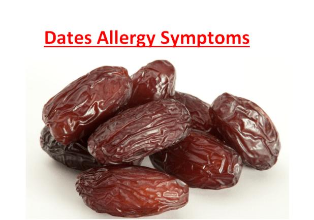 Dates Allergy Symptoms