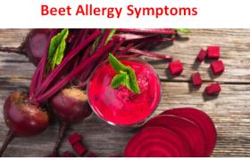 Beet Allergy Symptoms