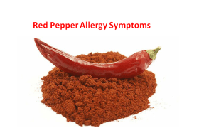 Crushed Red Pepper Allergy Symptoms