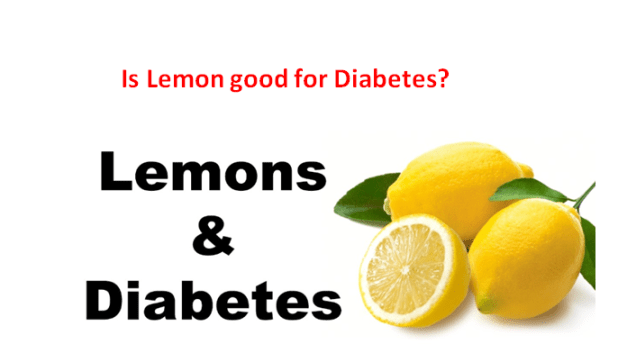 Is lemon good for diabetes?