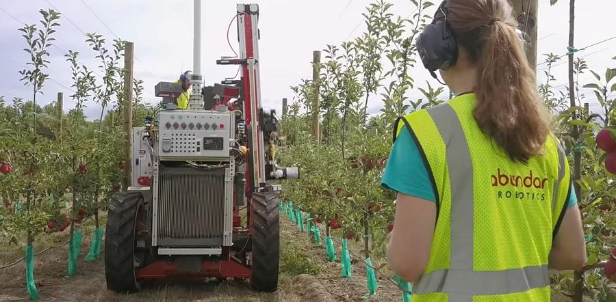 Robot szüreteli az almát Új-Zéland gyümölcsöseiben
