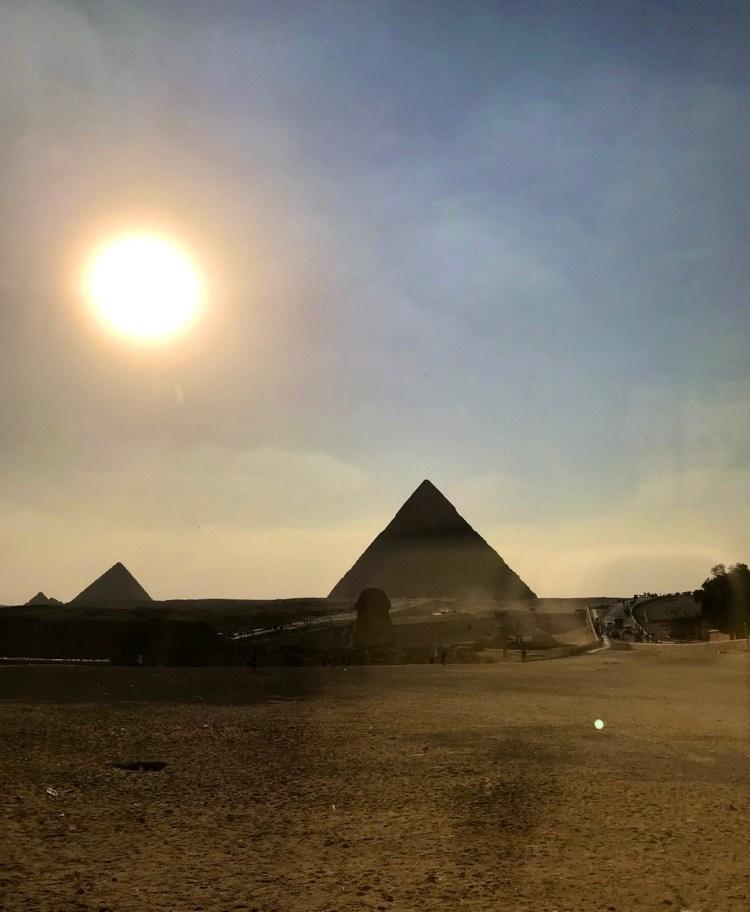 エジプト ギザ 夕陽