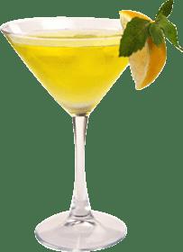 Lemon and ginger martini